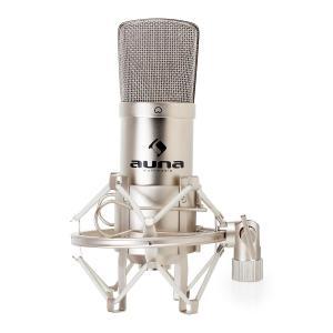 Auna CM001S Micro condensateur pro voix studio XLR - argent