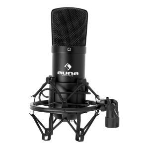 Auna CM001B Micro condensateur voix studio XLR - noir