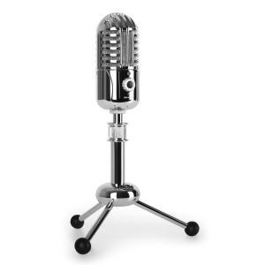 Auna CM280 microfono condensatore USB cardioide argento