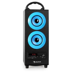 Auna Beachboy altoparlante 2.1 bluetooth FM blu