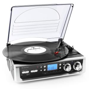 Auna TT-196E tourne-Disque USB MP3 FM/AM Phono