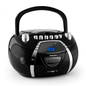 Beeboy Radiocasete CD MP3 USB negro