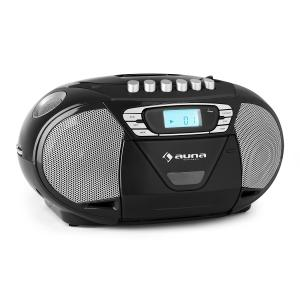 Auna KrissKross Lecteur CD-K7 portable USB MP3 CD FM - noir