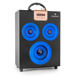 Central Park Portable 2.1 Bluetooth Speaker USB SD Blue