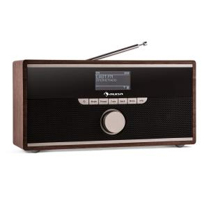 auna Weimar Radio internet tuner DAB/DAB+ FM streaming WiFi Bluetooth -bois