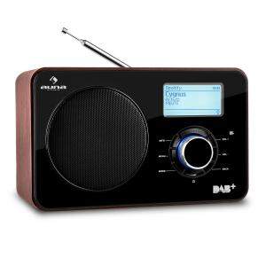 Auna Worldwide Internet radio WLAN/LAN DAB+ FM Tuner USB AUX Dual Alarm