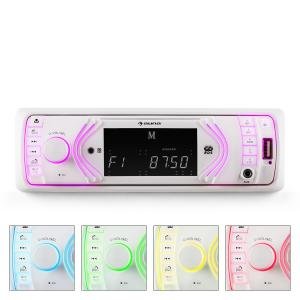 Auna MD-130W autoradio bluetooth SD USB RDS 7 colori