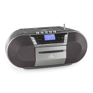 Jetpack portable Boombox USB CD MP3 UKW Batteriebetrieb grau