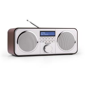 Georgia DAB Radio Presets Alarm Clock Aux Dark Brown