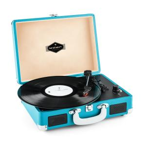 Peggy Sue Retro-Plattenspieler LP USB blau