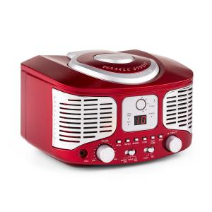 RCD320 Retro CD Player FM AUX Red