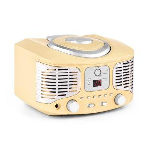 RCD320 Retro CD Player FM AUX Cream