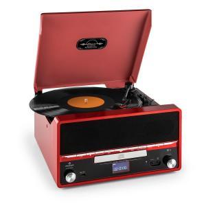 RTT 1922 Retro-Stereoanlage MP3 CD USB UKW AUX Aufnahmefunktion rot