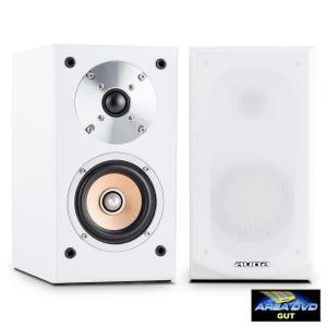 auna Linie 501 BS-WH Diffusore da Scaffale 100W Bianco