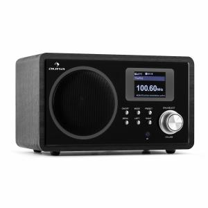 IR-150 Retro Internet Radio FM DLNA WLAN Remote Wood Black