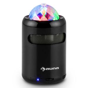 Auna Discohead Enceinte Bluetooth LED Sans fil MP3 Radio Mains libres