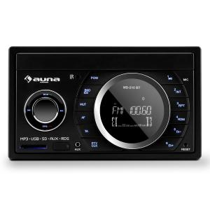 MD-210 BT RDS Radio para coche Bluetooth FM USB SD AUX MP3 Micrófono 2-DIN 4x75W
