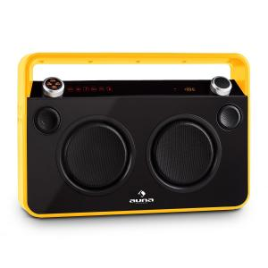 Bebop Ghettoblaster Boombox USB Bluetooth AUX MIC Battery Yellow