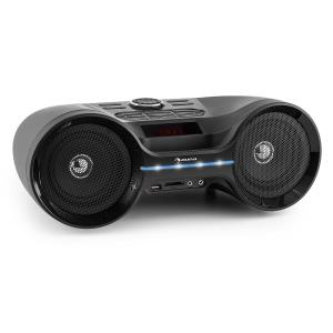 auna Boombastic Boombox Bluetooth USB SD MP3 AUX FM LED