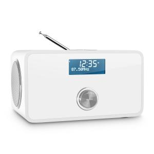 DABStep DAB/DAB+ Digitalradio Bluetooth UKW RDS Wecker weiß