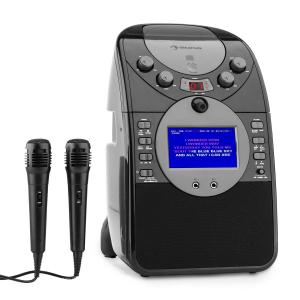 ScreenStar Karaokeanlage Kamera CD USB SD MP3 inkl. 2 x Mikrofon schwarz
