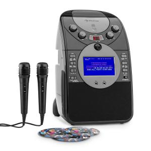 ScreenStar Karaokeanlage Kamera CD USB SD MP3 inkl. 2 x Mikrofon 3 x CD+G