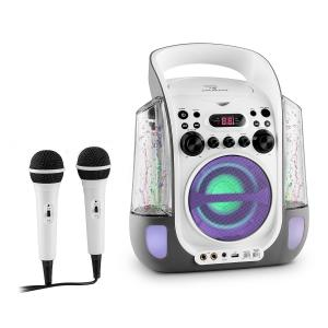 auna Kara Liquida Chaîne karaoke design CD USB MP3 Fontaine LED 2 micros