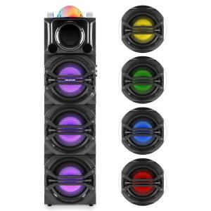 auna DisGo Box 365 Système audio Karaoké Bluetooth USB MP3 FM AUX lumière LED