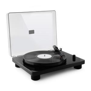TT Classic BK Retro Record Player USB Line Out Speaker black