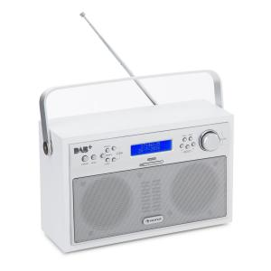 Akkord Digital Radio Portable DAB+/PLL-FM Radio Alarm LCD white