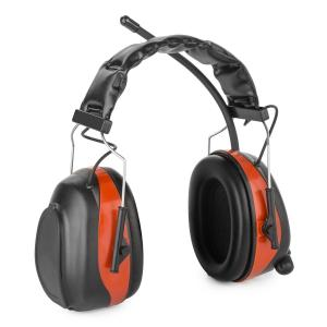 Jackhammer 2.0 Noise-cancelling Headphones FM AUX-In Radio SNR 28dB ABS/Steel red