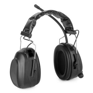 Jackhammer 2.0 Noise-cancelling Headphones FM AUX-In Radio SNR 28dB ABS/Steel black