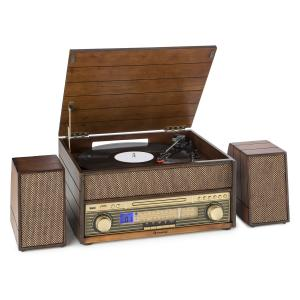 Belle Epoque 1909 Retro-Audiosystem Plattenspieler Kassette Bluetooth USB CD AUX