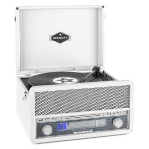 Belle Epoque 1907 Retro Audio System Record Player Cassette Bluetooth USB CD AUX