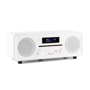 Melodia CD DAB+/UKW Desktop Radio CD-Player Bluetooth Alarm Snooze weiß
