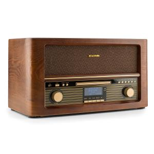 auna Belle Epoque 1906 DAB Impianto Stereo Retrò Bluetooth CD USB MP3 VHF/MW