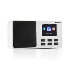 "IR-110 Internet Radio 2.4"" TFT Colour Display Battery WLAN USB White"