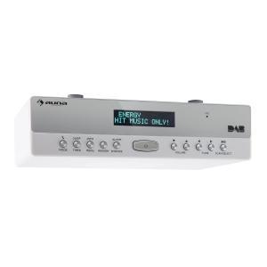 KR-100 DAB Küchen-Unterbauradio DAB+ FM Bluetooth Freisprechfunktion weiß