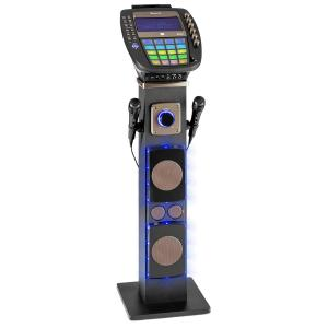 "KaraBig máquina de karaoke Bluetooth LED 7"" TFT CD USB altavoz integrado"