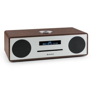 Stanford DAB-CD-Radio DAB+ Bluetooth USB MP3 AUX UKW walnuss