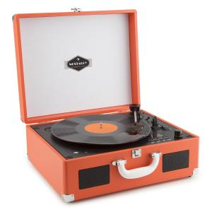Peggy Sue CD tragbarer Retro-CD-Schallplattenspieler CD USB SD orange