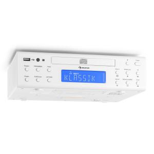 KRCD-150 kitchen radio CD USB AUX FM RDS alarm remote control white