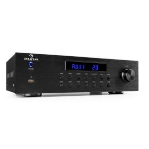 auna AV2-CD850BT ampli stéréo 4 zones 5x80 W RMS Bluetooth USB CD FM - noir