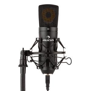 auna MIC-920B Microphone USB de studio à condensateur large membrane - noir