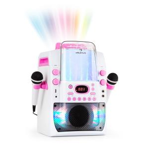 Kara Liquida BT Karaoke MachineLight Show Water Fountain BT White/Pink