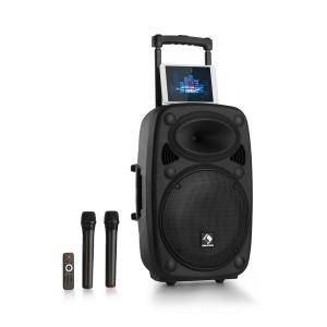 "Streetstar 2.0 12 Mobile PA-Anlage 12"" Subwoofer Trolley Display BT USB/SD/MP3  Line-Out AUX 2xUHF-Funkmikrofon Fernbedienung 800 Wmax."