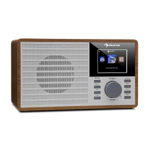 "IR-160 Internet Radio WLAN USB AUX UPnP 2.8"" TFT Display Remote Control Brown"