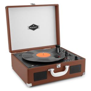 Peggy Sue CD Portable Retro CD Record Player CD USB SD Dark Brown