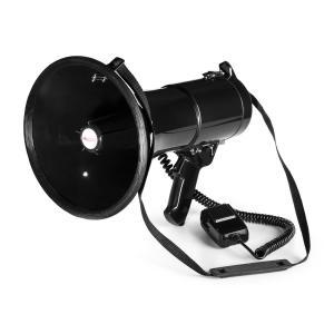auna MEGA080 Megafono 80 W | Portata 700m | Impermeabile | Cinghia | Nero