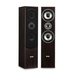 L766 3-Way Bass Reflex HiFi Speaker Pair Walnut